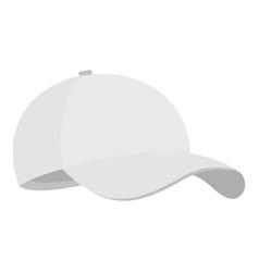 white baseball cap icon flat style vector image