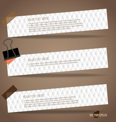 Note paper ready for your message vector image vector image
