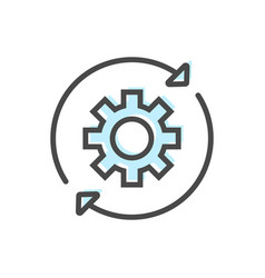 Artificial intelligence icon with gear symbol vector