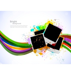 Bright background with photo frames vector image