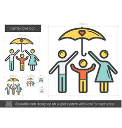 Family love line icon vector