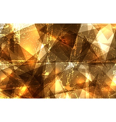 Grunge crystal composition vector image
