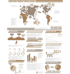 INFOGRAPHIC DEMOGRAPHICS POPULATION 2BROWN vector image vector image