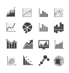 Business data analytics icons Measurements and vector image vector image