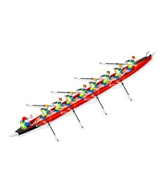 Canoe Coxswain Eight 2016 Sports 3D vector image vector image
