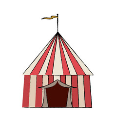 circus game booths border wooden blank vector image vector image