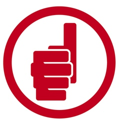 Hand showing thumbs up symbol - hand giving OK vector image