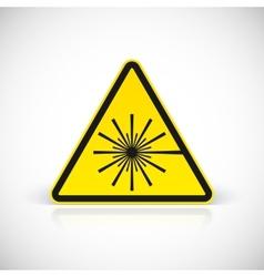 Laser Hazard warning sign vector image
