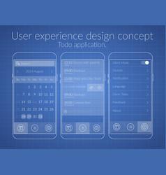 user design concept vector image vector image