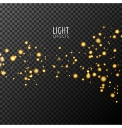 Abstract sparkles on dark transparent background vector image