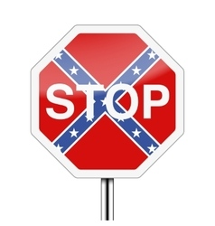 Ban on the Confederate flag vector image vector image