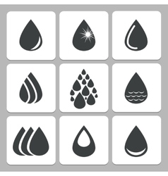 drop icons vector image