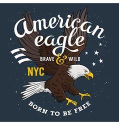 Eagle print 001 vector image
