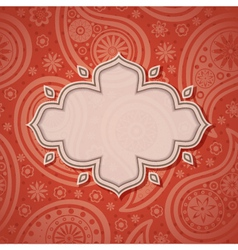 Indian frame vector image vector image