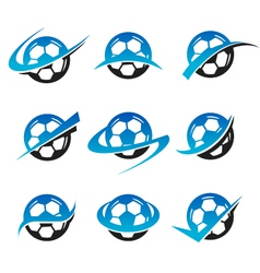 Soccer Ball logo Icons vector image vector image