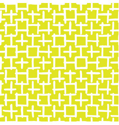 Abstract hand drawn seamless pattern yellow vector