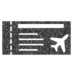 Airticket Icon Rubber Stamp vector image