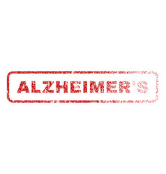 Alzheimer s rubber stamp vector