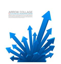 Arrow explosion blue vector