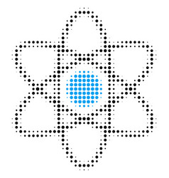Atom halftone icon vector