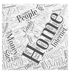 Avoiding work at home employment scams word cloud vector