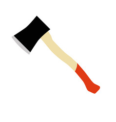 axe hatchet lumberjack icon wood equipment vector image
