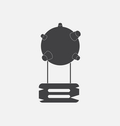 Black icon on white background satellite base vector