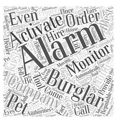 Burglar alarm monitoring Word Cloud Concept vector