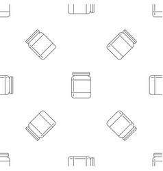 butter jar pattern seamless vector image
