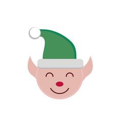 cartoon helper decoration happy christmas icon vector image