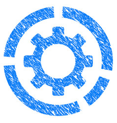 Circle diagram configuration gear grunge icon vector