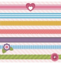 Collection of cute ribbons vector image