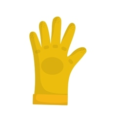 Construction industrial glove vector