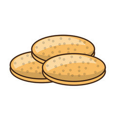 Cookies chocolate chips vector