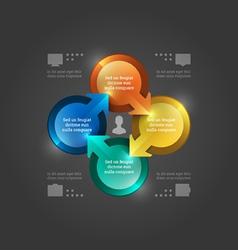 Creative Infographics 3D Circles Diagram vector image