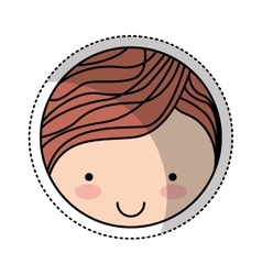 cute little man character vector image