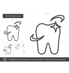 Dental care line icon vector image