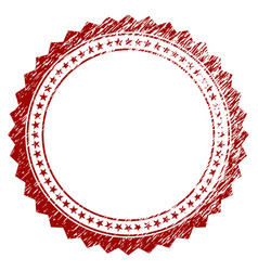 distressed textured rosette circular star frame vector image