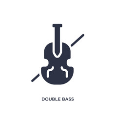 Double bass icon on white background simple vector
