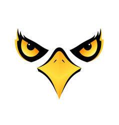 Eagle head on white background icon eps10 vector