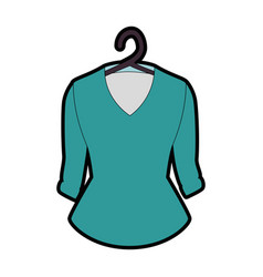 Elegant blouse for women in clothespin vector