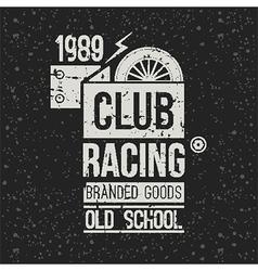 Emblem racing club vector image