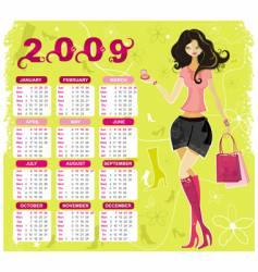 Fashion calendar for 2009 vector