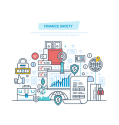 finance safety security online banking data vector image