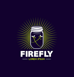 Firefly jar logo sign symbol icon vector