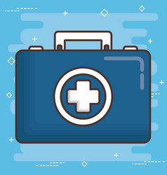 first aid design vector image