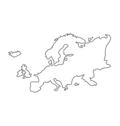 Line europe continent geography map design vector