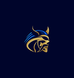 logo barbarians skull e sport and sport style vector image