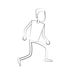man faceless cartoon vector image