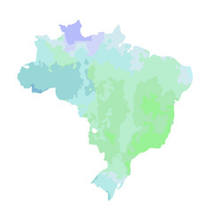 map of brazil with a blue green violet texture vector image